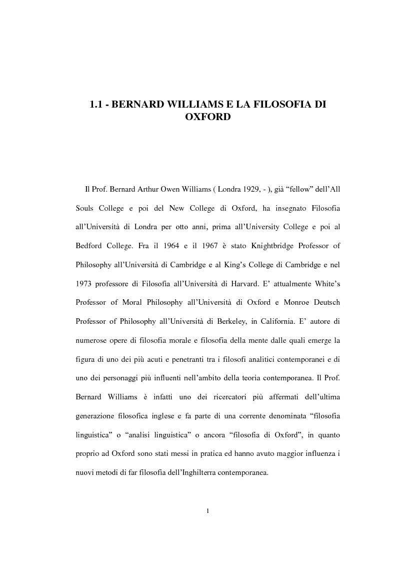 """Anteprima della tesi: La concezione della morale di Bernard Williams; con un saggio di traduzione da """"Morality"""", 1972, Pagina 2"""