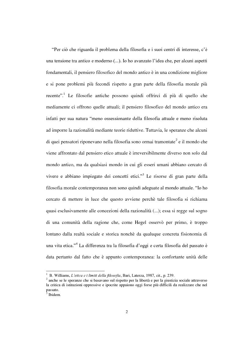 """Anteprima della tesi: La concezione della morale di Bernard Williams; con un saggio di traduzione da """"Morality"""", 1972, Pagina 3"""