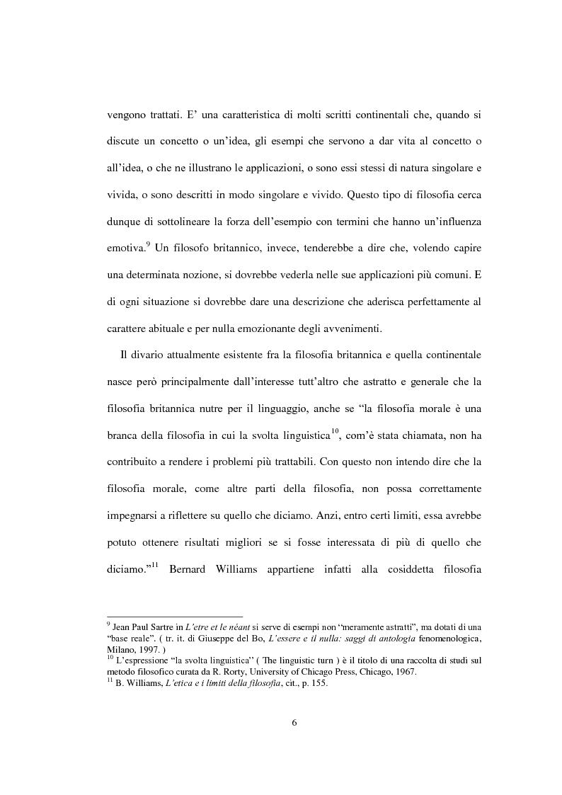 """Anteprima della tesi: La concezione della morale di Bernard Williams; con un saggio di traduzione da """"Morality"""", 1972, Pagina 7"""