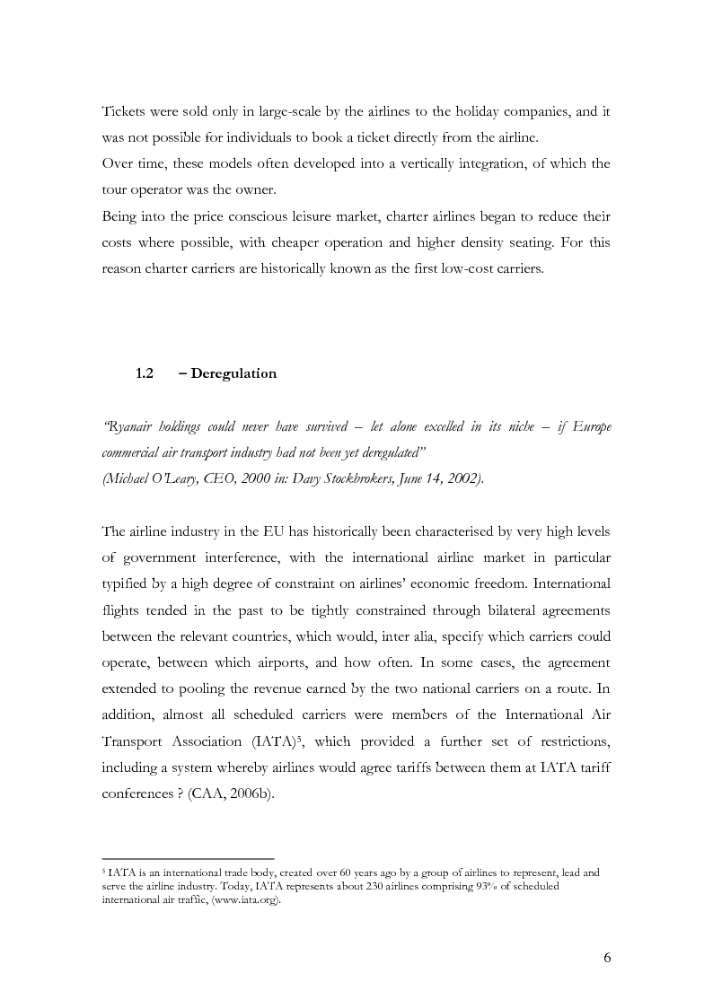 Anteprima della tesi: The low-cost airline model in Europe on the example of Ryanair and the passengers' perception, Pagina 5
