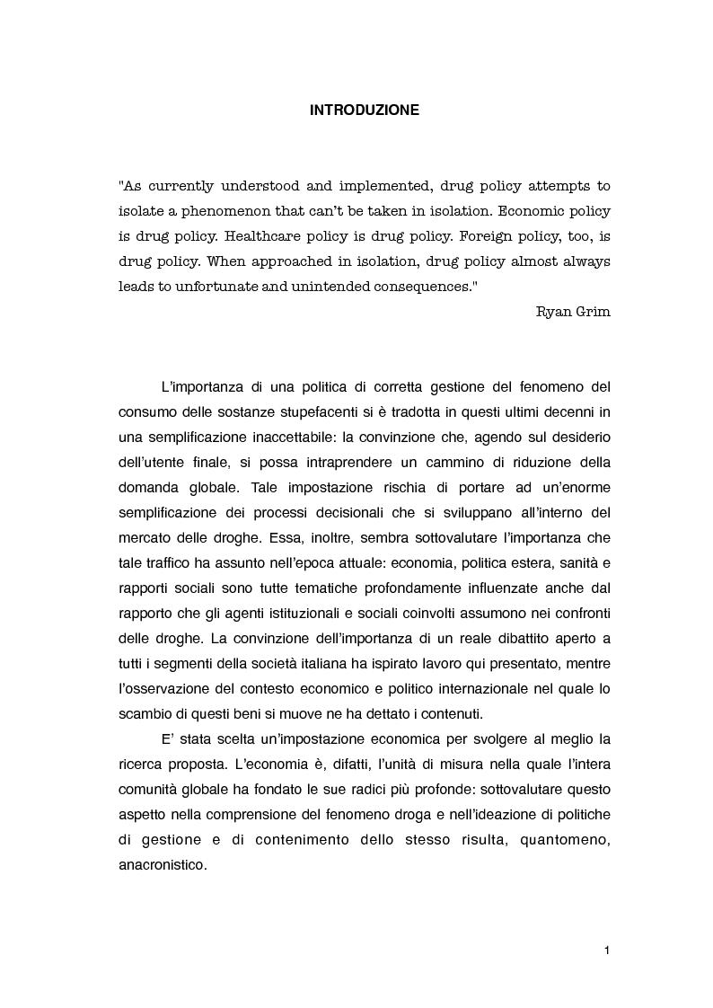 Anteprima della tesi: Overdose da Proibizionismo: un'analisi economica del mercato delle sostanze stupefacenti, Pagina 2