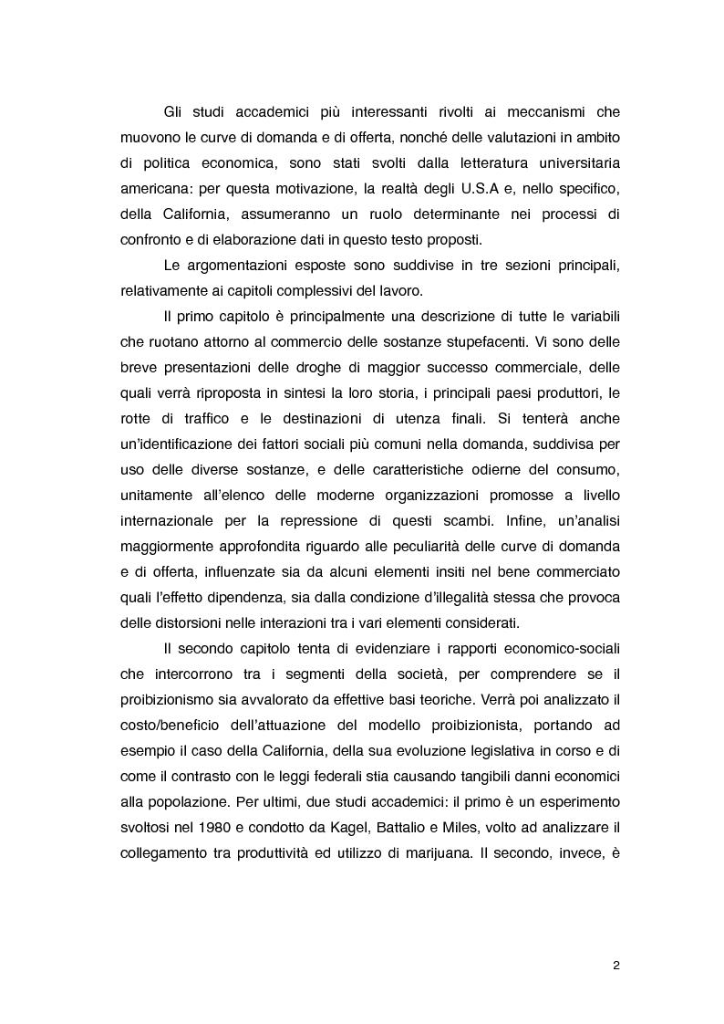 Anteprima della tesi: Overdose da Proibizionismo: un'analisi economica del mercato delle sostanze stupefacenti, Pagina 3