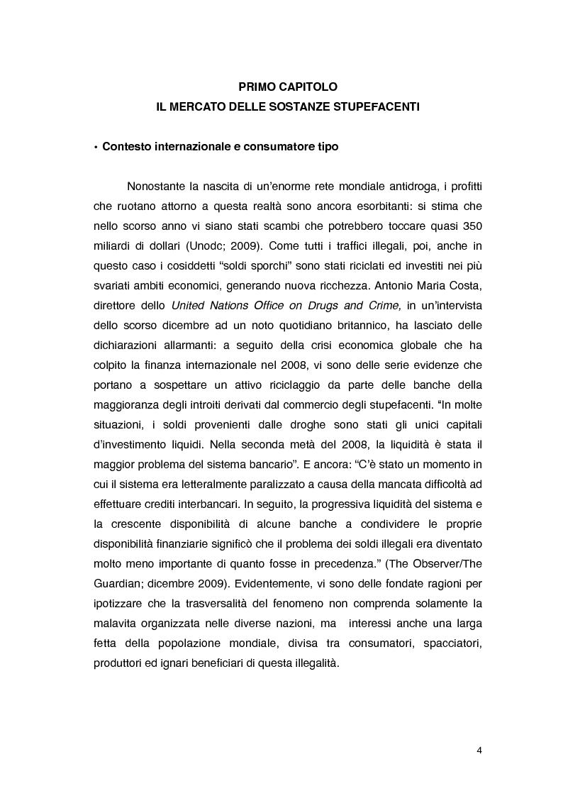 Anteprima della tesi: Overdose da Proibizionismo: un'analisi economica del mercato delle sostanze stupefacenti, Pagina 5