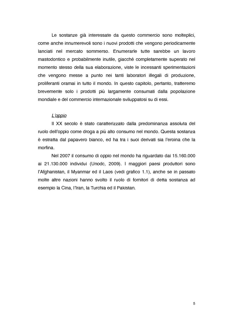 Anteprima della tesi: Overdose da Proibizionismo: un'analisi economica del mercato delle sostanze stupefacenti, Pagina 6