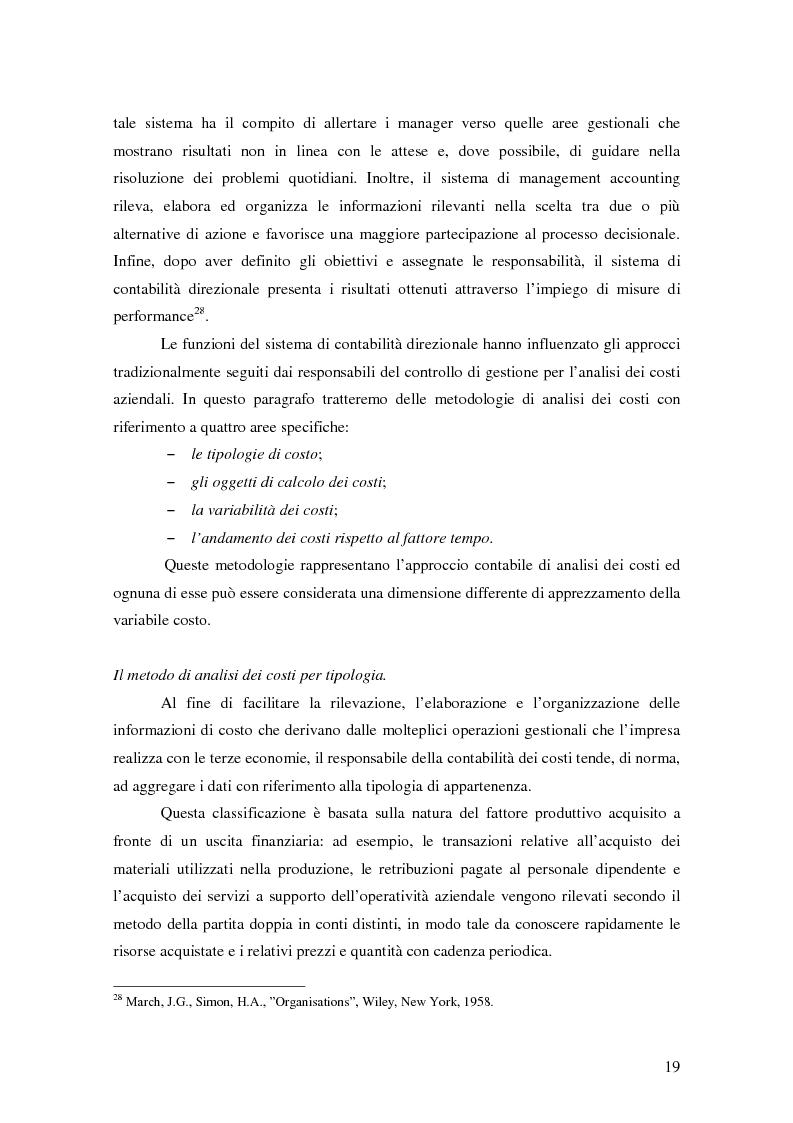Anteprima della tesi: La gestione strategica dei costi nel settore bancario: il caso della Banca Popolare di Vicenza, Pagina 13