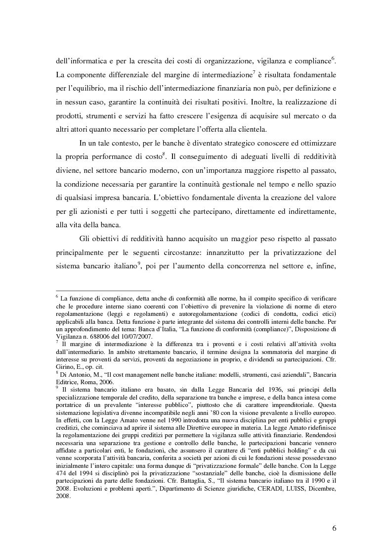 Anteprima della tesi: La gestione strategica dei costi nel settore bancario: il caso della Banca Popolare di Vicenza, Pagina 3