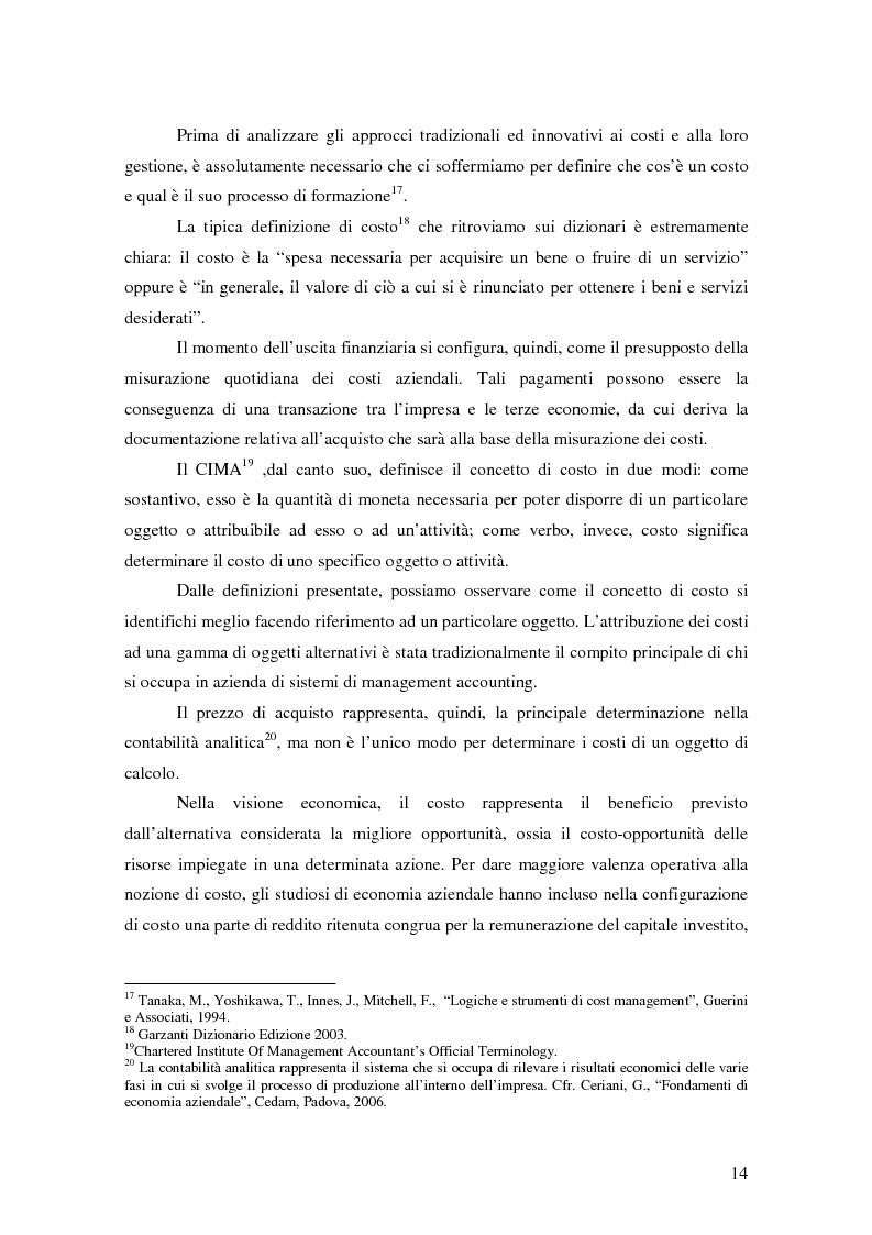 Anteprima della tesi: La gestione strategica dei costi nel settore bancario: il caso della Banca Popolare di Vicenza, Pagina 8