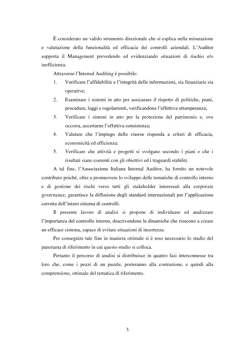 Anteprima della tesi: Il Sistema di controllo interno nelle società quotate. Il D. Lgs. 231/2001 nel settore energetico Italiano., Pagina 4