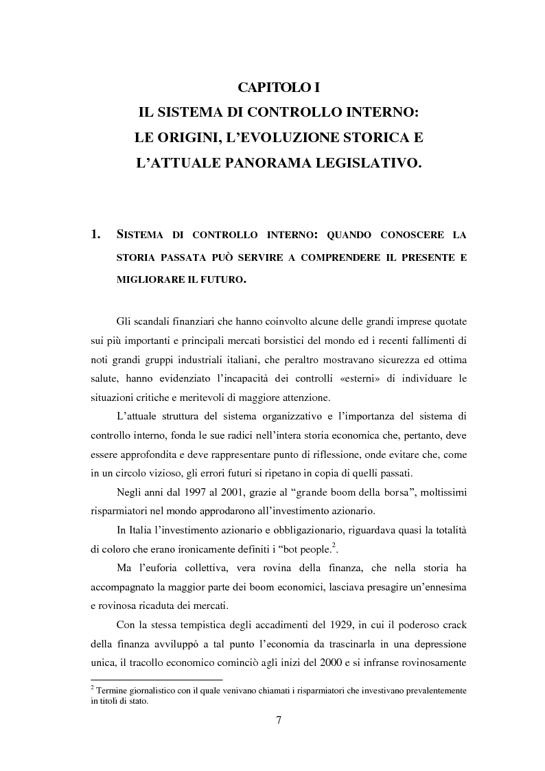 Anteprima della tesi: Il Sistema di controllo interno nelle società quotate. Il D. Lgs. 231/2001 nel settore energetico Italiano., Pagina 8