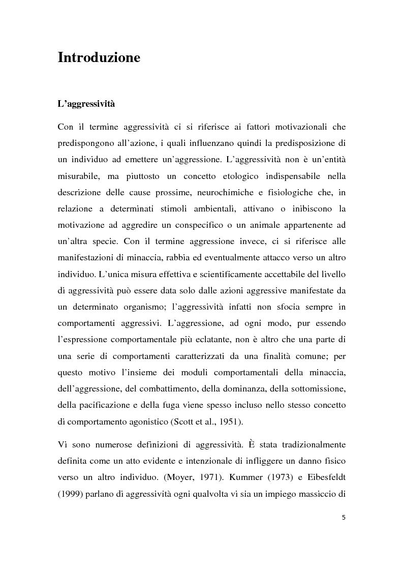 Anteprima della tesi: Effetti degli inibitori della fosfodiesterasi-5 (PDE-5) sul comportamento agonistico e sessuale in un modello animale, Pagina 2