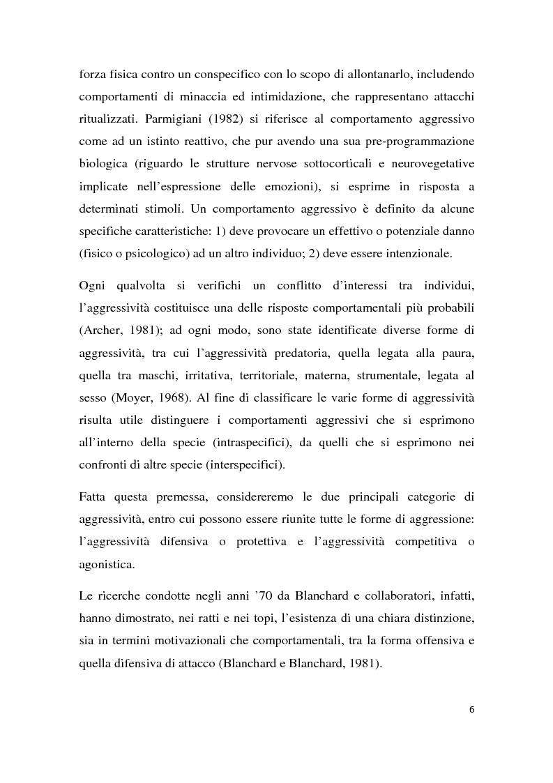 Anteprima della tesi: Effetti degli inibitori della fosfodiesterasi-5 (PDE-5) sul comportamento agonistico e sessuale in un modello animale, Pagina 3