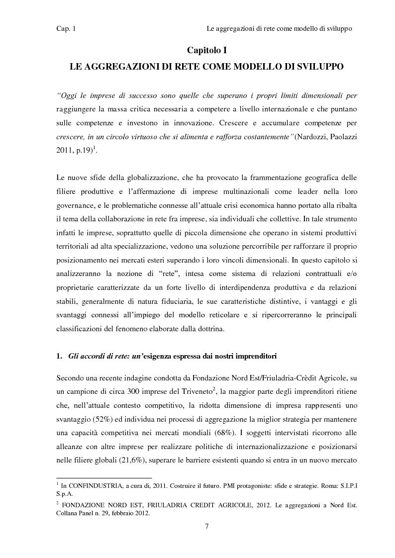 Anteprima della tesi: Il contratto di Rete: una nuova opportunità di crescita per le nostre imprese, Pagina 2