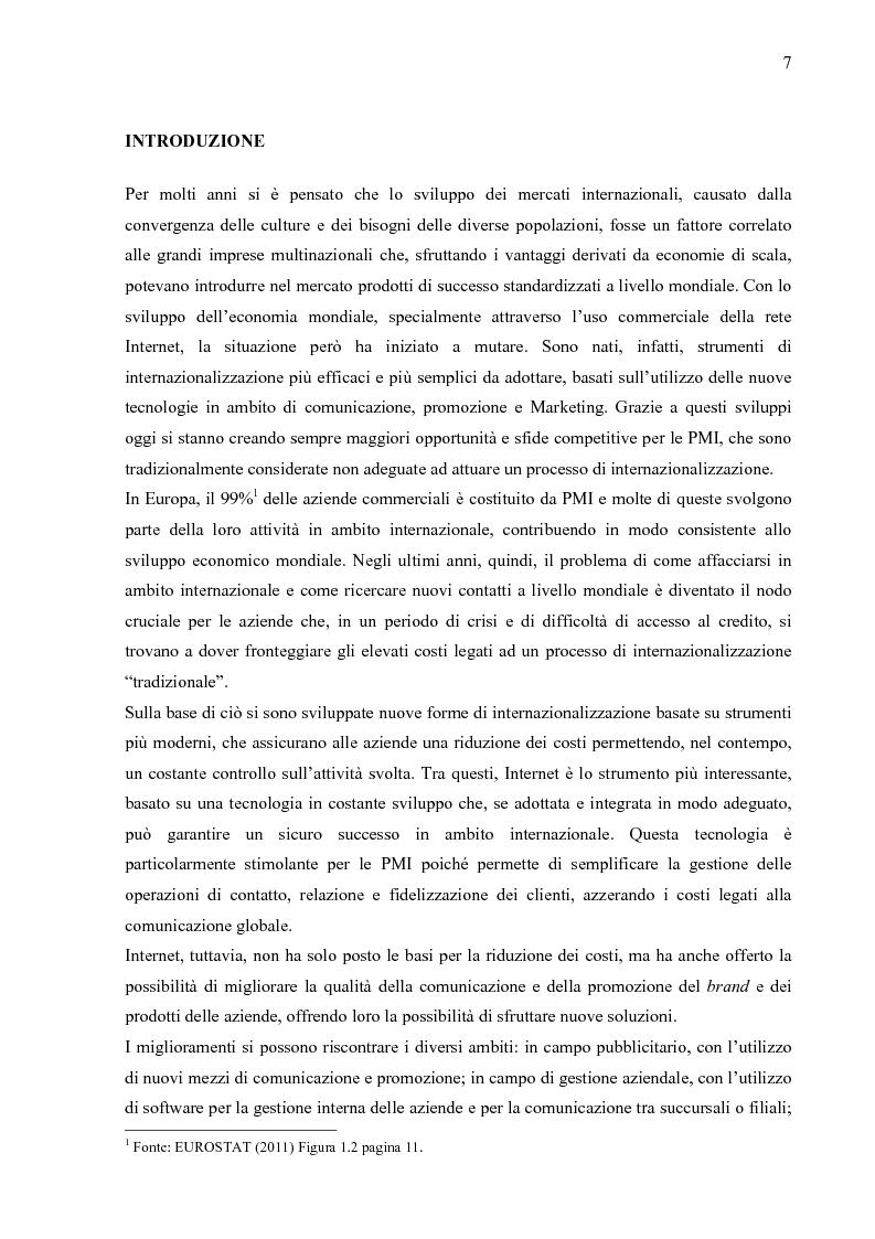 Anteprima della tesi: Internazionalizzazione 2.0: Web Marketing, Web Communication e Web Promotion al servizio delle PMI. Il caso Inspiring Software, Pagina 2