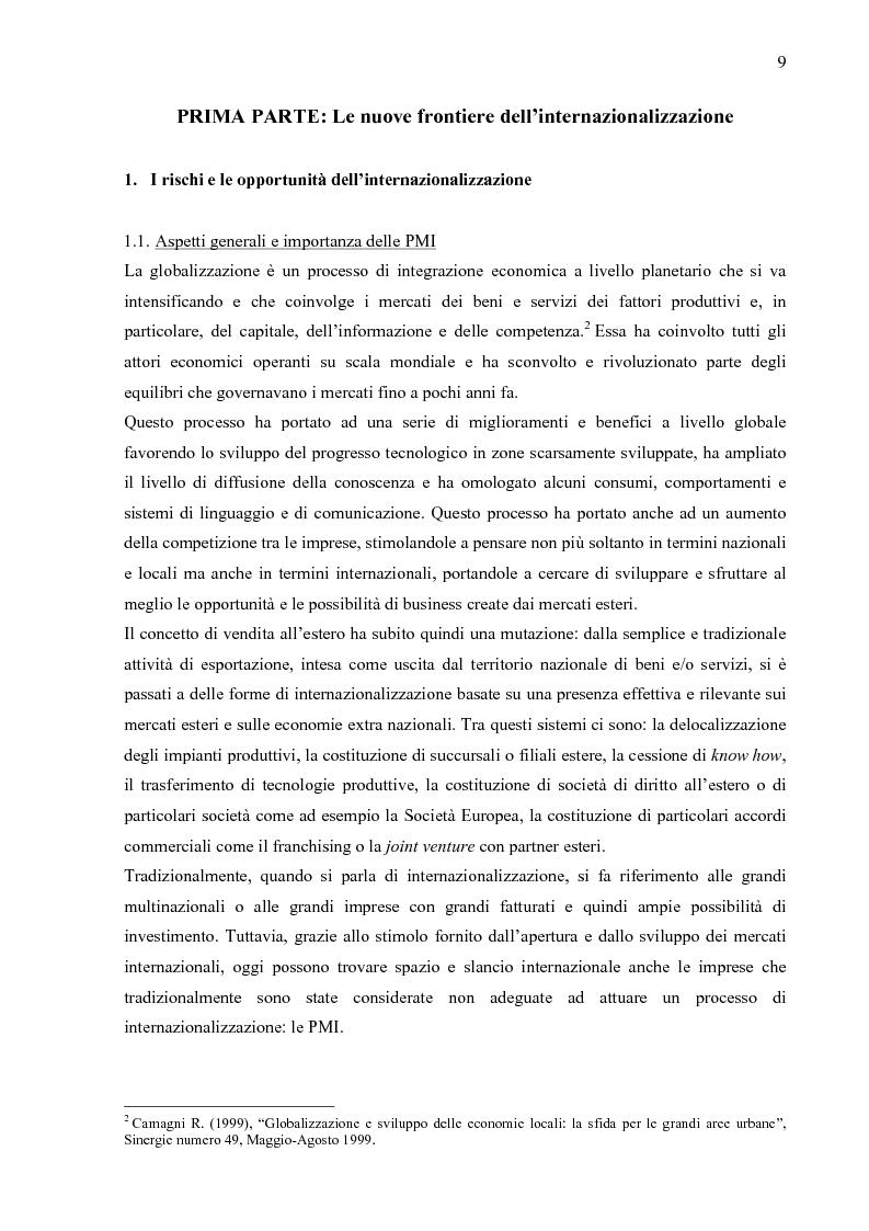 Anteprima della tesi: Internazionalizzazione 2.0: Web Marketing, Web Communication e Web Promotion al servizio delle PMI. Il caso Inspiring Software, Pagina 4