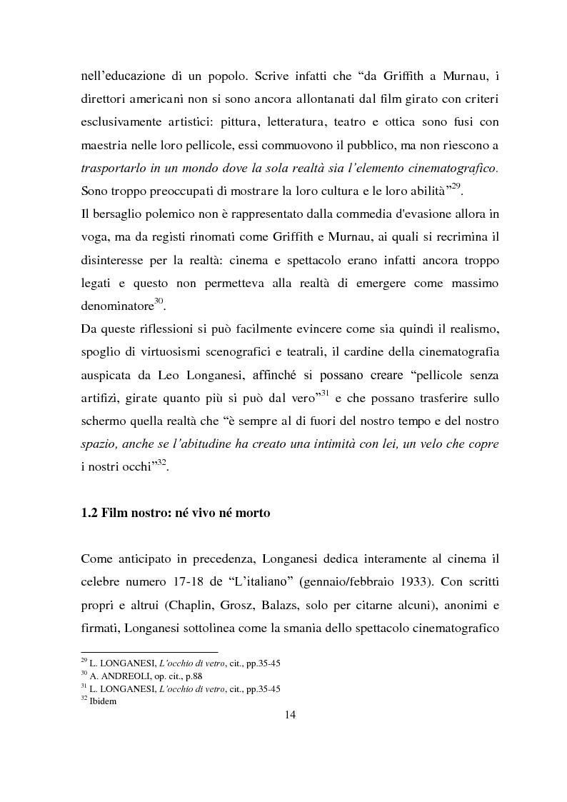 Anteprima della tesi: Longanesi e il cinema: da ''Dieci minuti di vita'' a ''Vivere ancora'', Pagina 11
