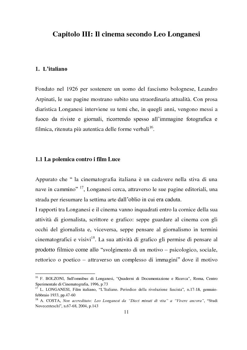 Anteprima della tesi: Longanesi e il cinema: da ''Dieci minuti di vita'' a ''Vivere ancora'', Pagina 8