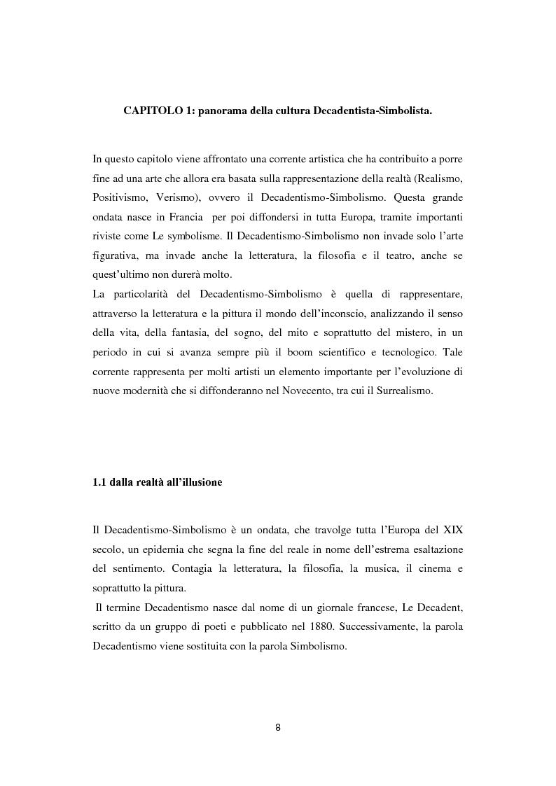 Anteprima della tesi: Odilon Redon, il principe del sogno. Un viaggio nell'inconscio attraverso le analisi di ventuno opere, Pagina 4