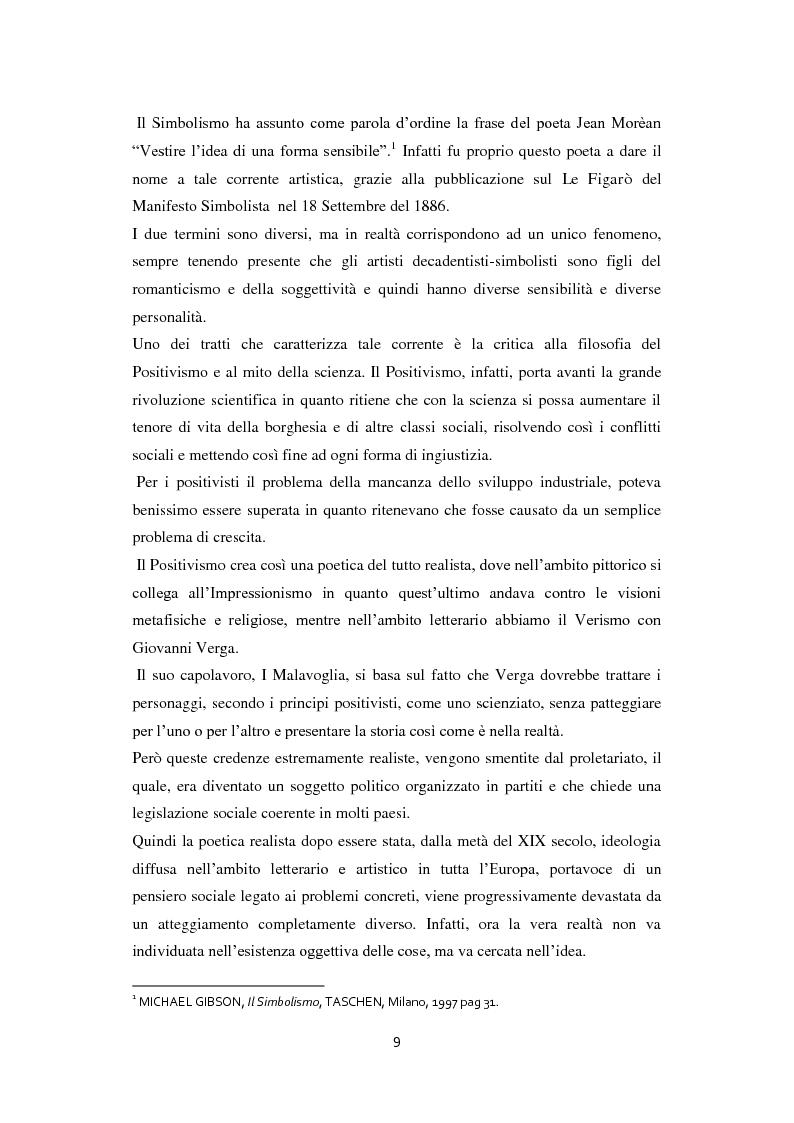 Anteprima della tesi: Odilon Redon, il principe del sogno. Un viaggio nell'inconscio attraverso le analisi di ventuno opere, Pagina 5