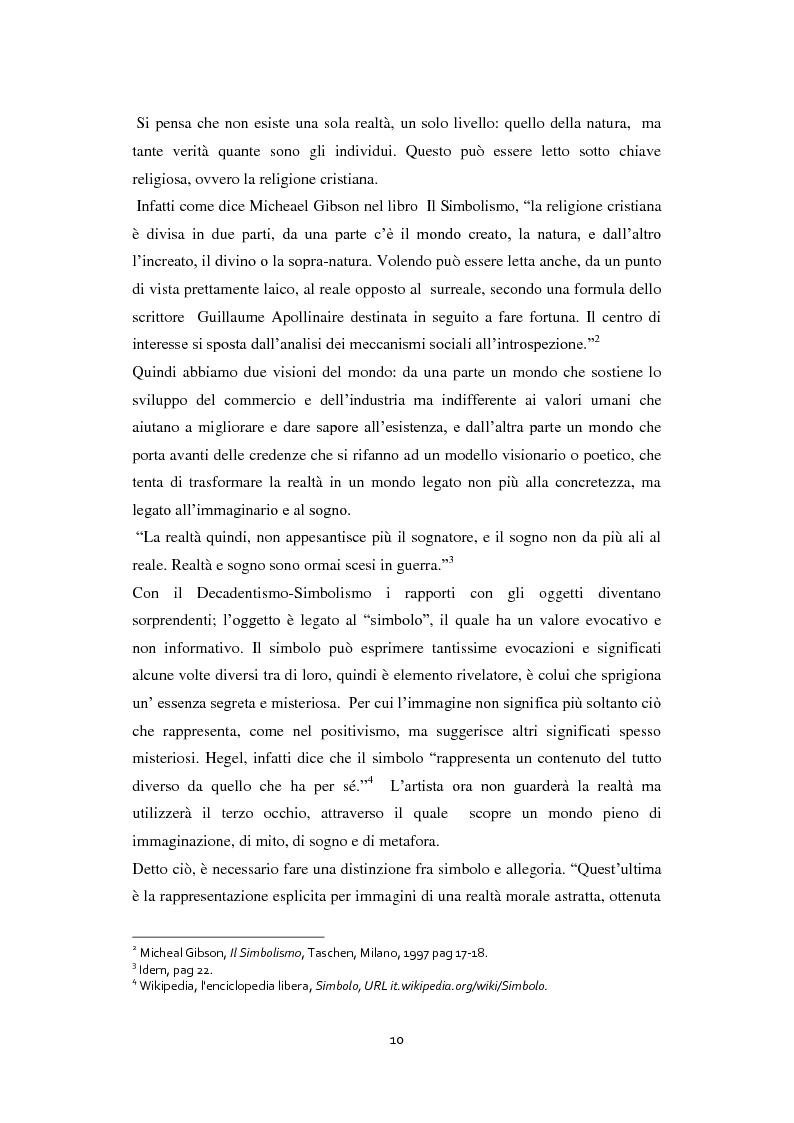 Anteprima della tesi: Odilon Redon, il principe del sogno. Un viaggio nell'inconscio attraverso le analisi di ventuno opere, Pagina 6
