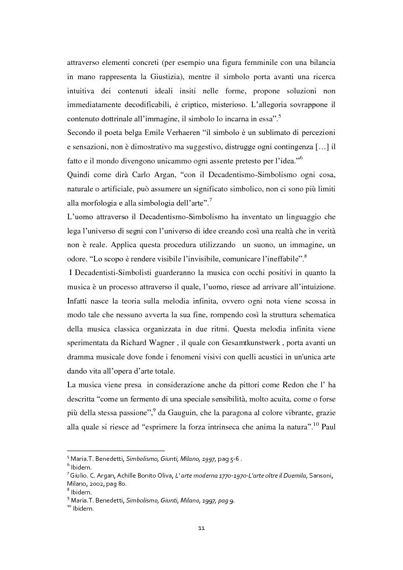 Anteprima della tesi: Odilon Redon, il principe del sogno. Un viaggio nell'inconscio attraverso le analisi di ventuno opere, Pagina 7