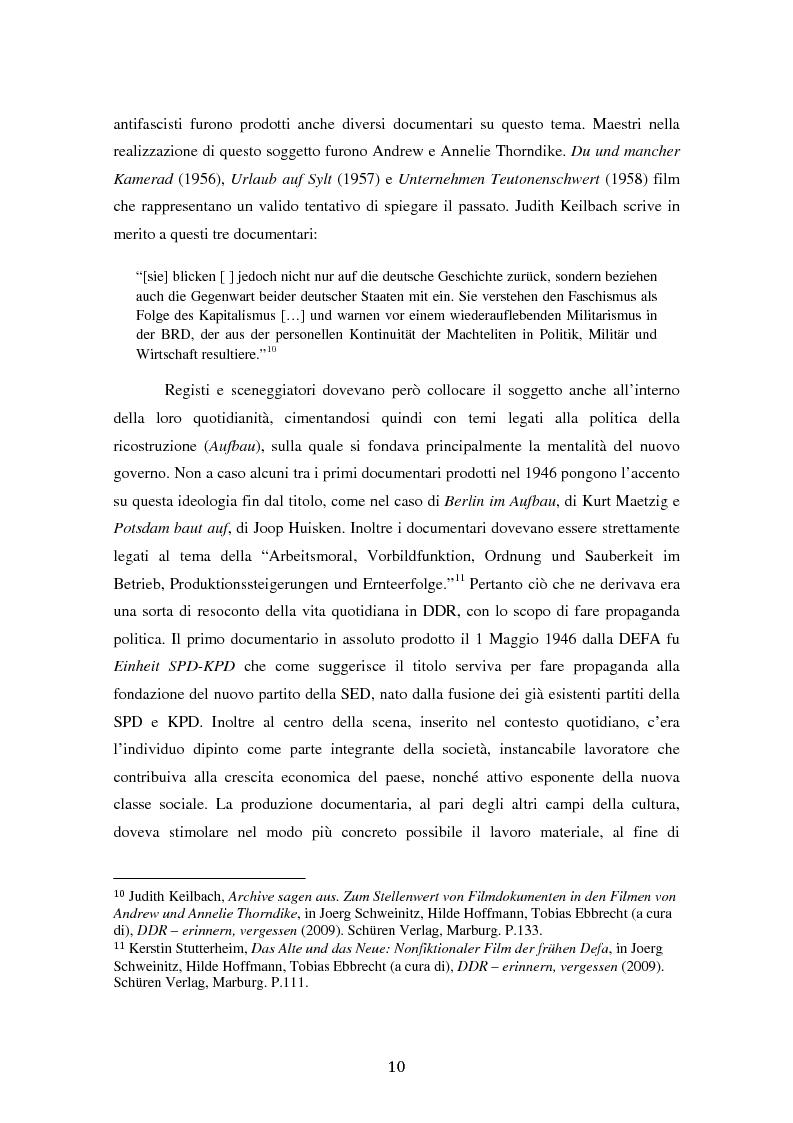 Anteprima della tesi: Costruire l'inimmaginabile: lo spostamento della prospettiva nei documentari DEFA sull'orrore nazista, Pagina 10