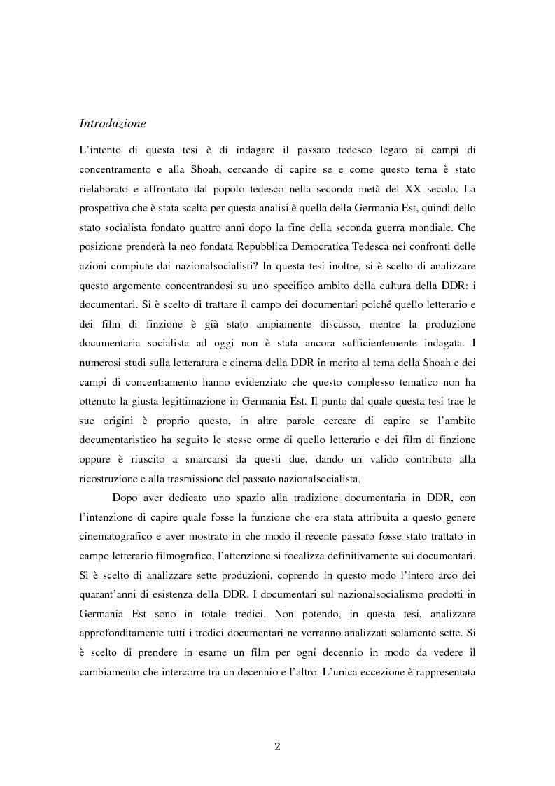 Anteprima della tesi: Costruire l'inimmaginabile: lo spostamento della prospettiva nei documentari DEFA sull'orrore nazista, Pagina 2