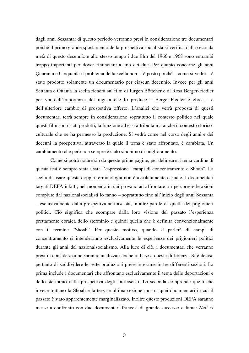 Anteprima della tesi: Costruire l'inimmaginabile: lo spostamento della prospettiva nei documentari DEFA sull'orrore nazista, Pagina 3
