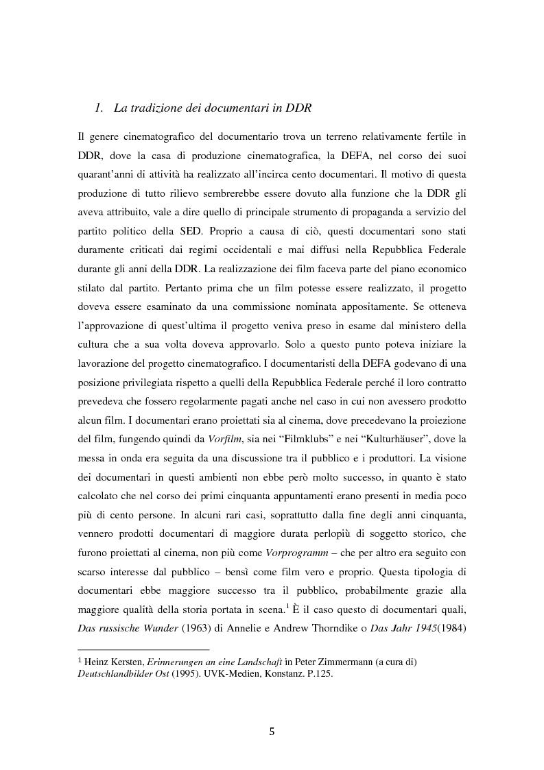 Anteprima della tesi: Costruire l'inimmaginabile: lo spostamento della prospettiva nei documentari DEFA sull'orrore nazista, Pagina 5