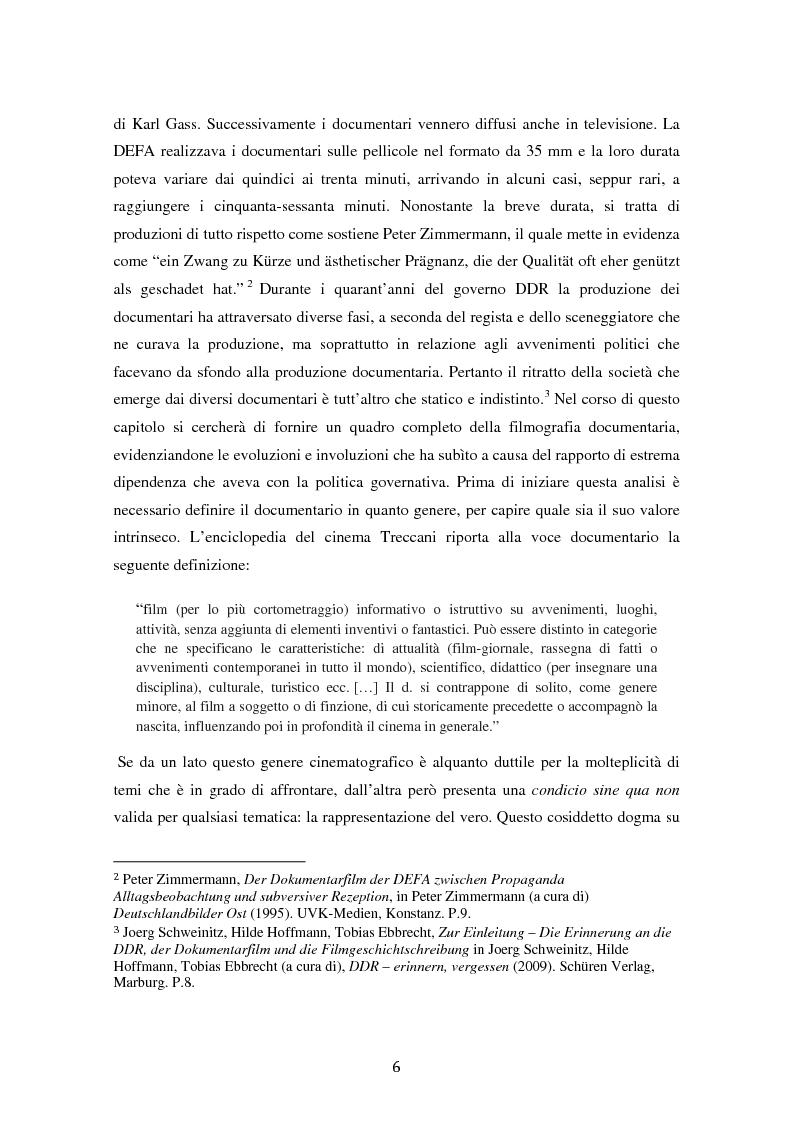 Anteprima della tesi: Costruire l'inimmaginabile: lo spostamento della prospettiva nei documentari DEFA sull'orrore nazista, Pagina 6