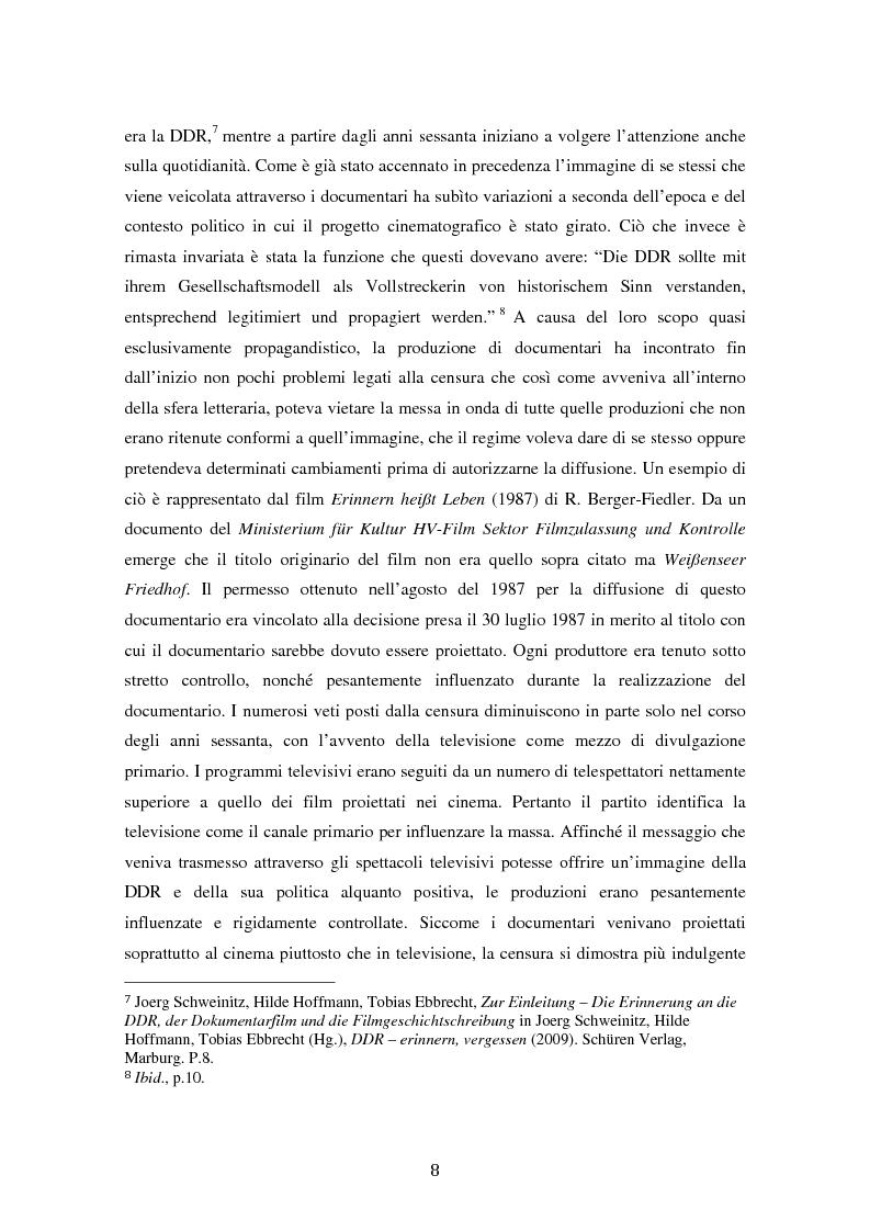 Anteprima della tesi: Costruire l'inimmaginabile: lo spostamento della prospettiva nei documentari DEFA sull'orrore nazista, Pagina 8