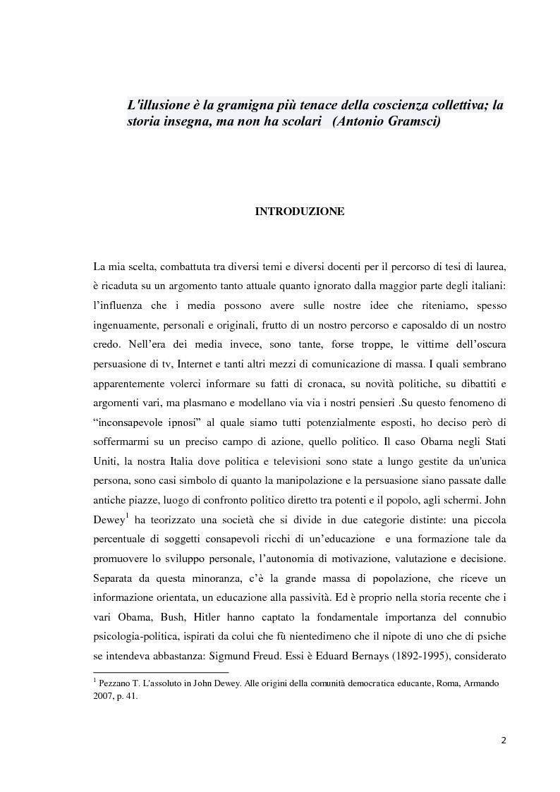 Media e democrazia: nasce la politica 2.0 - Tesi di Laurea