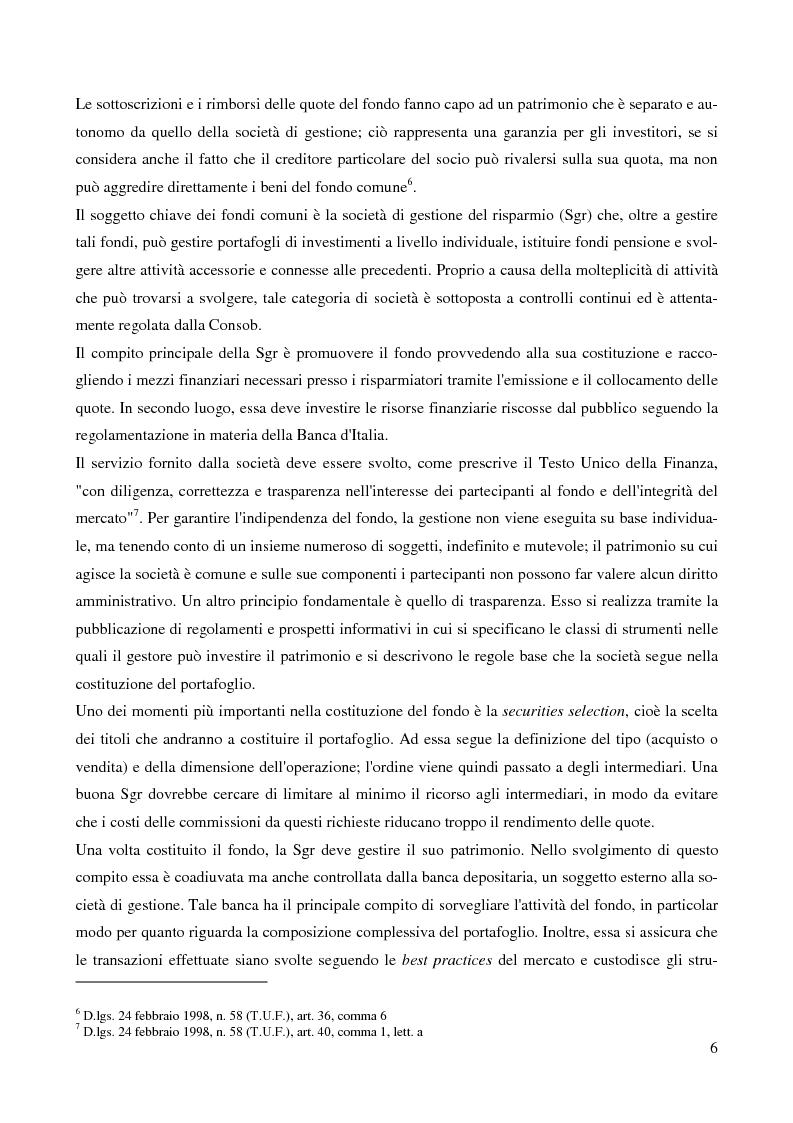 Anteprima della tesi: Gli Exchange Traded Funds come strumenti di gestione del risparmio, Pagina 6