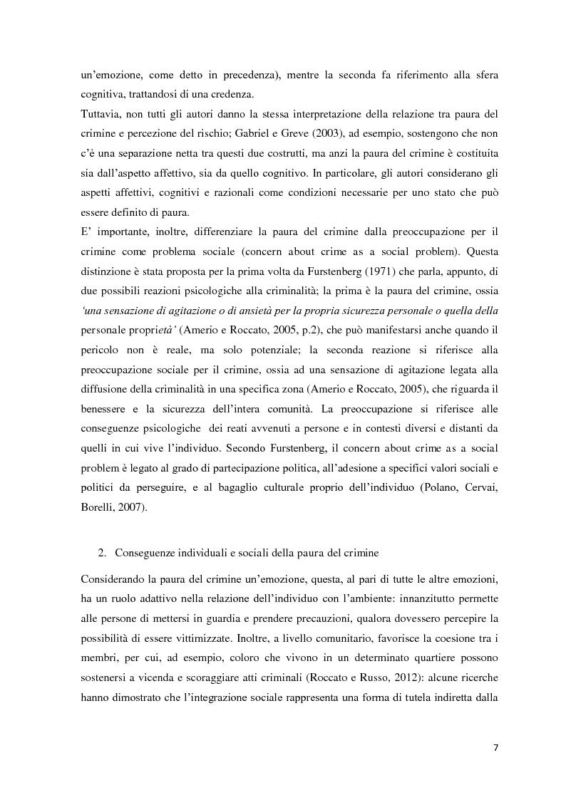 Anteprima della tesi: Mass media, pregiudizio e paura del crimine: un'indagine con il Linguistic Category Model, Pagina 5