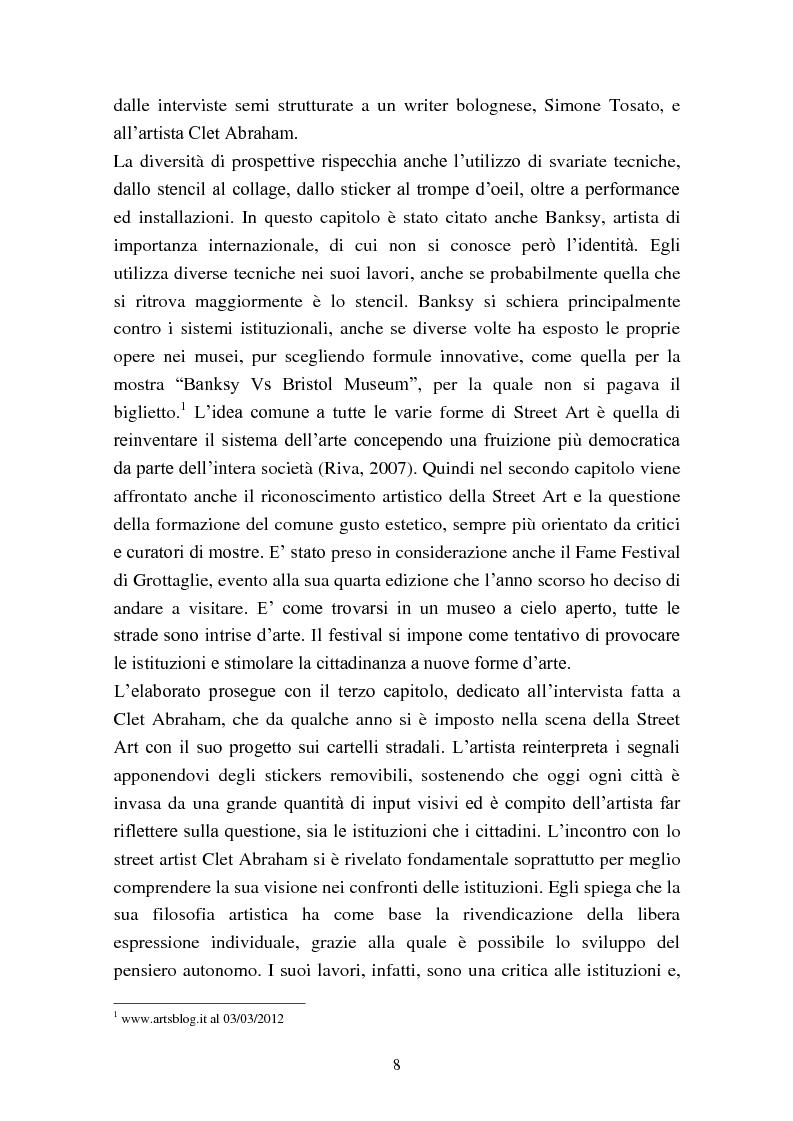 Anteprima della tesi: Street Art: itinerari controversi, Pagina 5