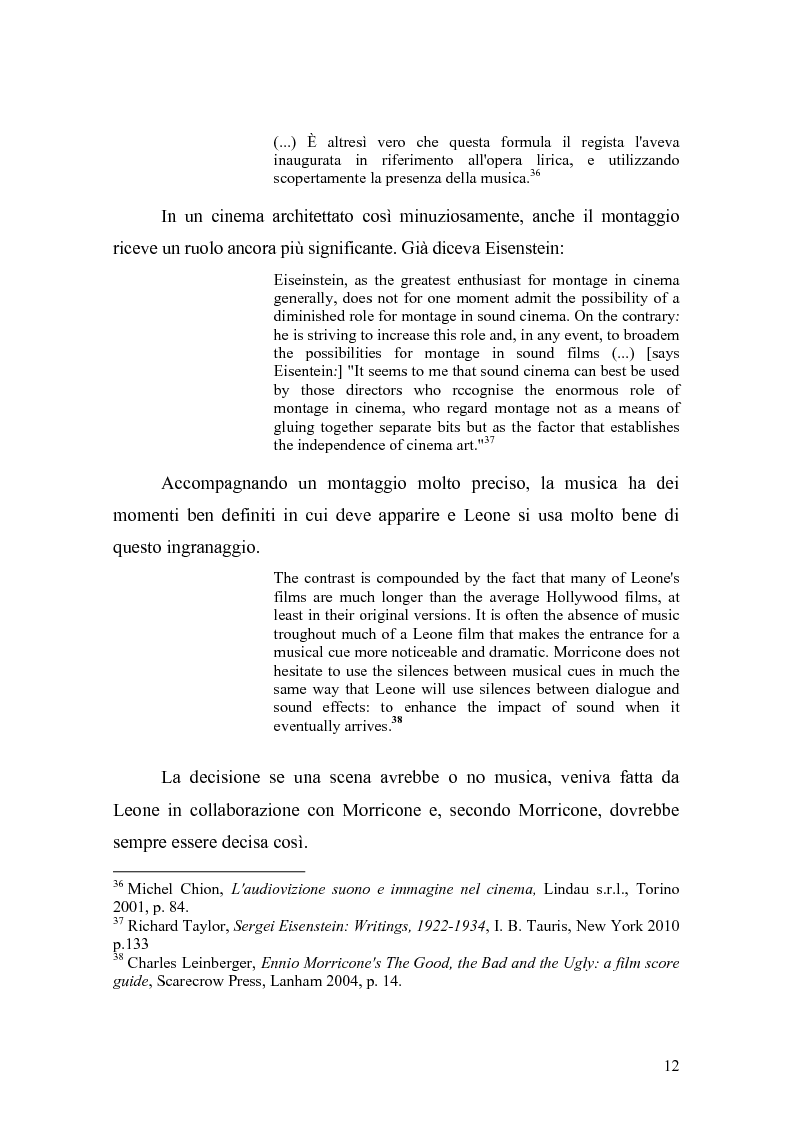 Anteprima della tesi: Musica Filmica Narrativa - Il rapporto tra musica e immagine nella trilogia del dollaro di Sergio Leone, Pagina 13