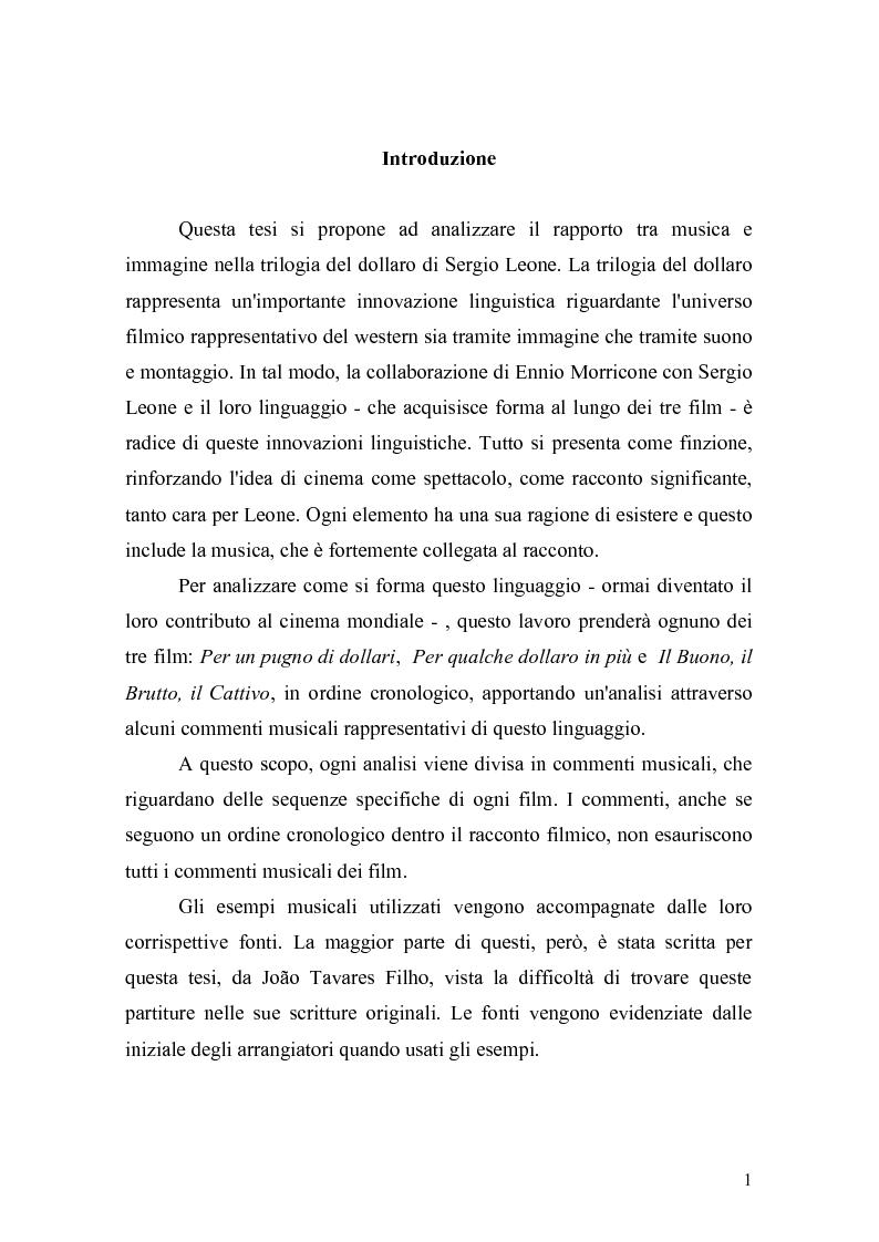 Anteprima della tesi: Musica Filmica Narrativa - Il rapporto tra musica e immagine nella trilogia del dollaro di Sergio Leone, Pagina 2