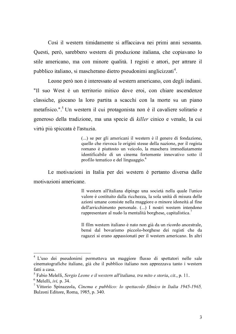 Anteprima della tesi: Musica Filmica Narrativa - Il rapporto tra musica e immagine nella trilogia del dollaro di Sergio Leone, Pagina 4