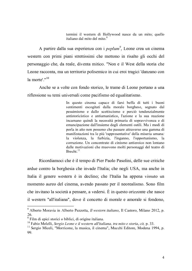 Anteprima della tesi: Musica Filmica Narrativa - Il rapporto tra musica e immagine nella trilogia del dollaro di Sergio Leone, Pagina 5