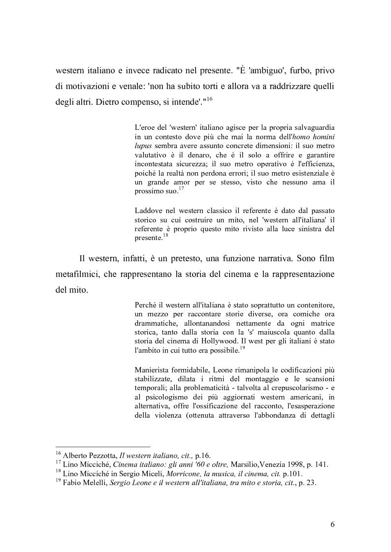 Anteprima della tesi: Musica Filmica Narrativa - Il rapporto tra musica e immagine nella trilogia del dollaro di Sergio Leone, Pagina 7