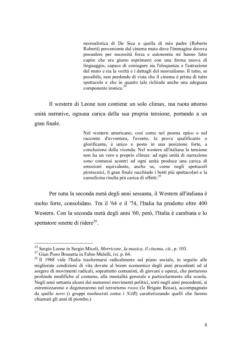Anteprima della tesi: Musica Filmica Narrativa - Il rapporto tra musica e immagine nella trilogia del dollaro di Sergio Leone, Pagina 9
