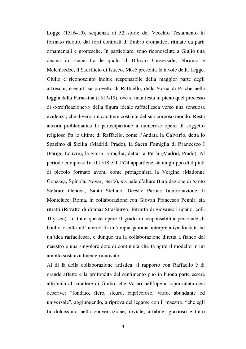 Anteprima della tesi: La Sacra Famiglia su tavola in Santa Maria Assunta a Fondi: elementi tecnici e stilistici a confronto con l'opera di Giulio Romano in Santa Maria dell'Anima a Roma., Pagina 3