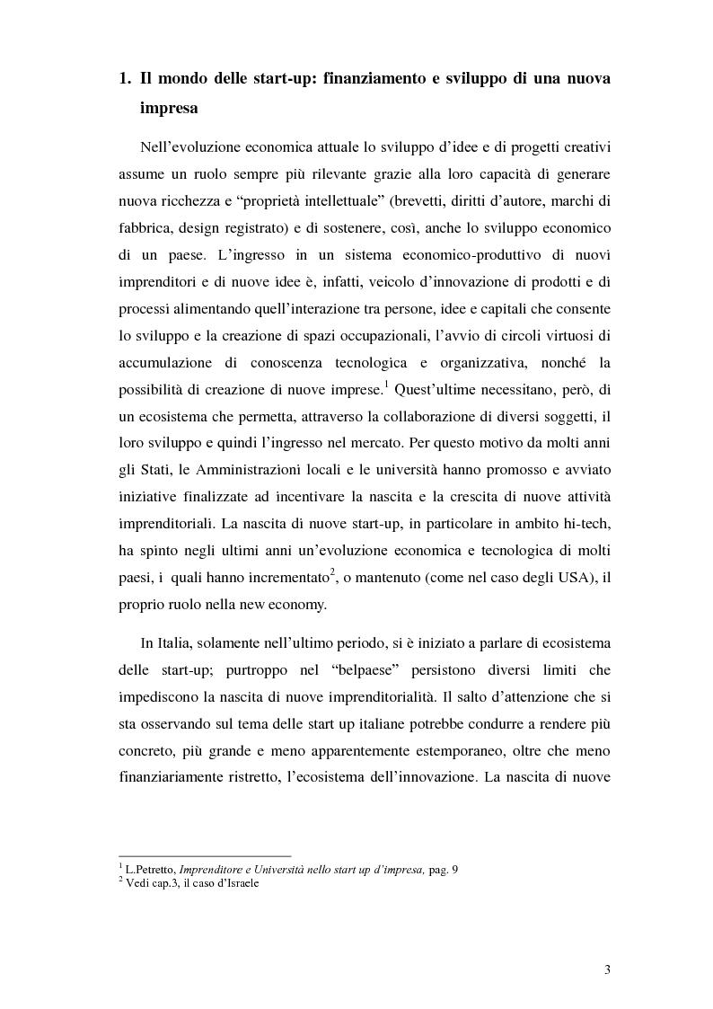Anteprima della tesi: Italia start-up: analisi e critica del processo d'incubazione di nuove imprese, Pagina 6