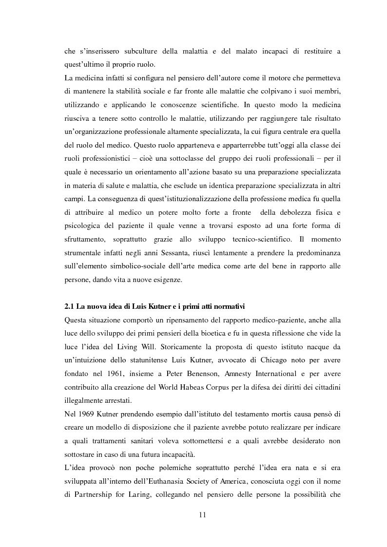 Anteprima della tesi: Testamento biologico e   principio di Autodeterminazione, Pagina 12