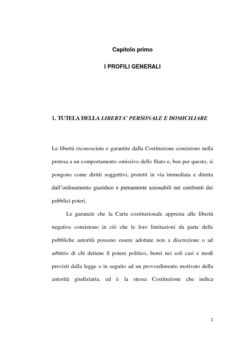 Anteprima della tesi: Sequestro probatorio e processo penale, Pagina 2