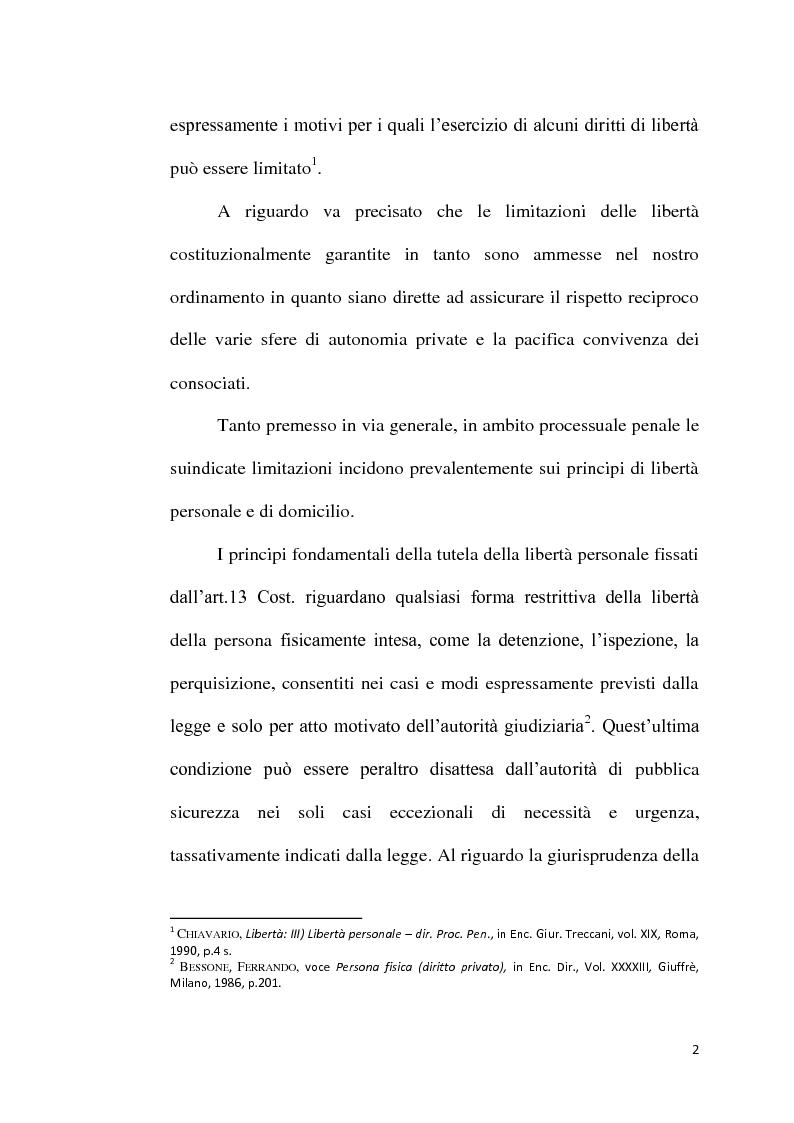 Anteprima della tesi: Sequestro probatorio e processo penale, Pagina 3