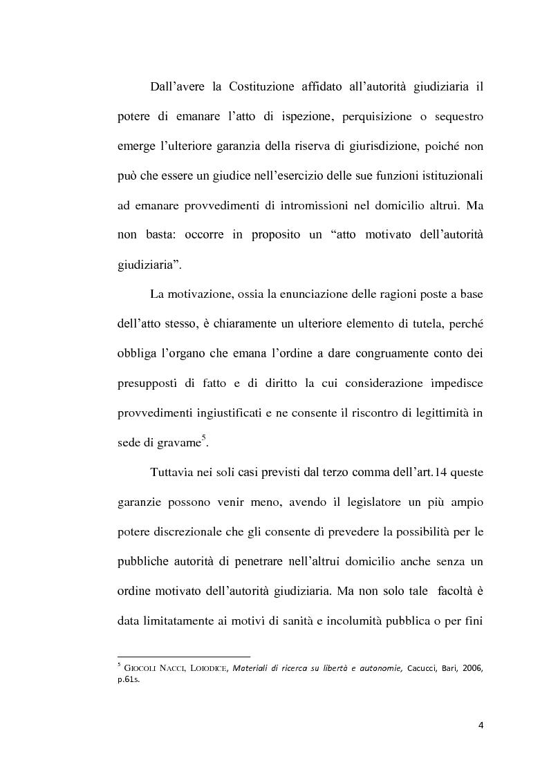 Anteprima della tesi: Sequestro probatorio e processo penale, Pagina 5