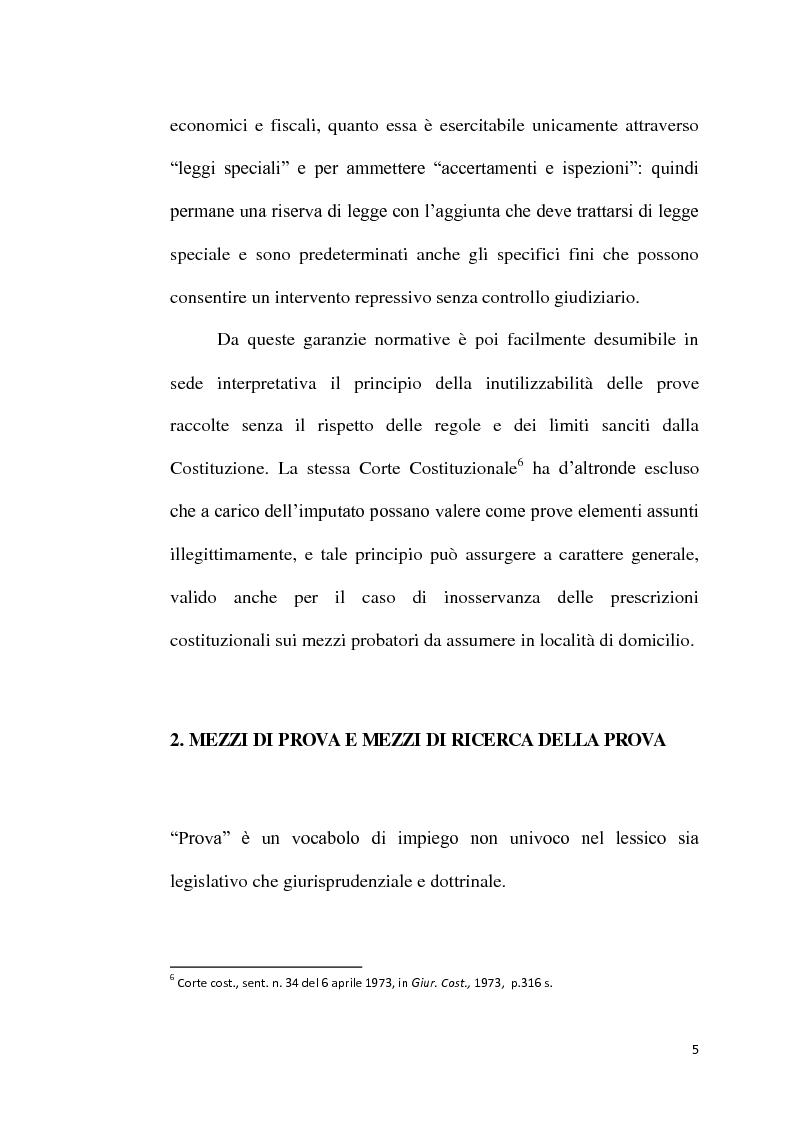 Anteprima della tesi: Sequestro probatorio e processo penale, Pagina 6