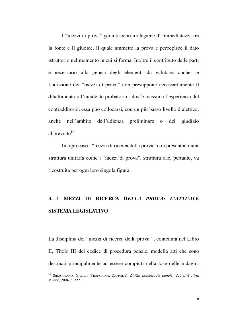 Anteprima della tesi: Sequestro probatorio e processo penale, Pagina 9