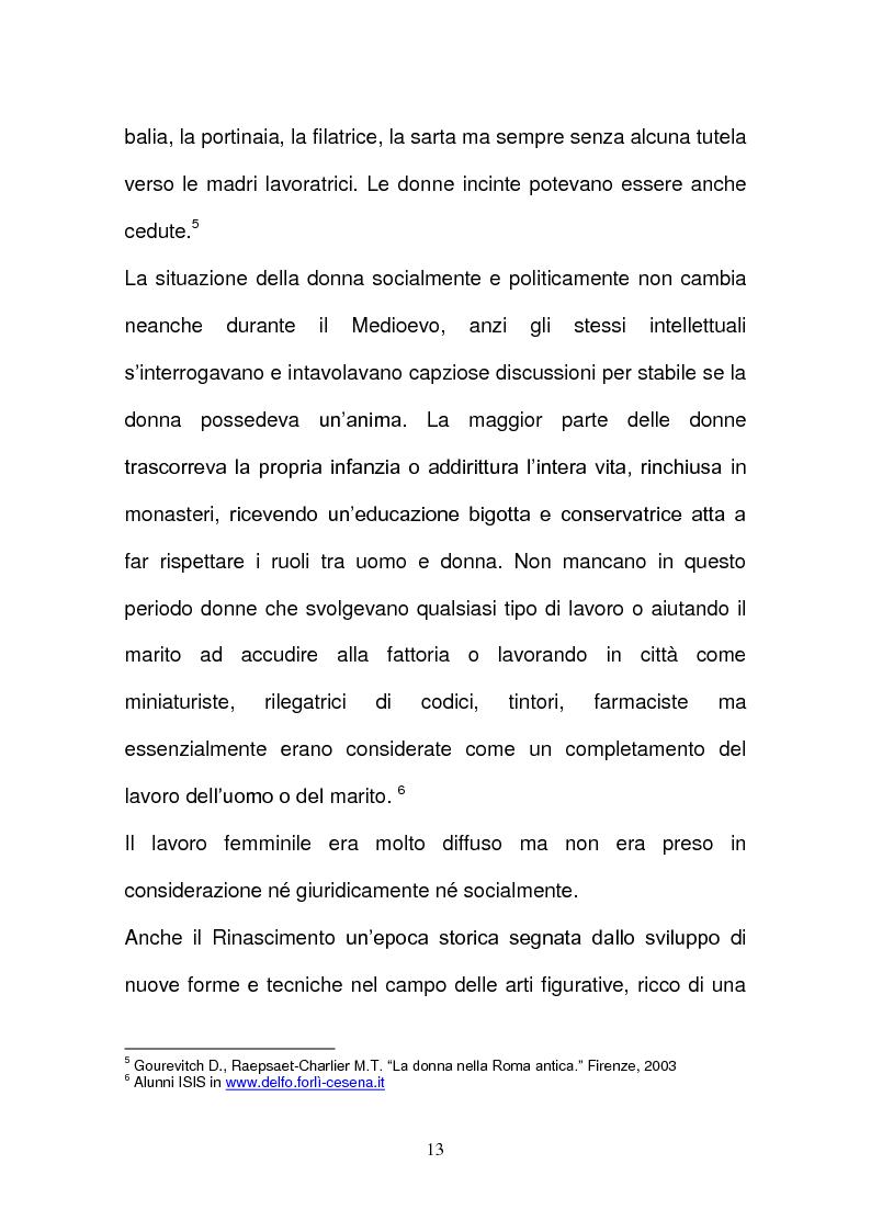 Anteprima della tesi: L'evoluzione della tutela della lavoratrice madre nel mondo del lavoro., Pagina 10