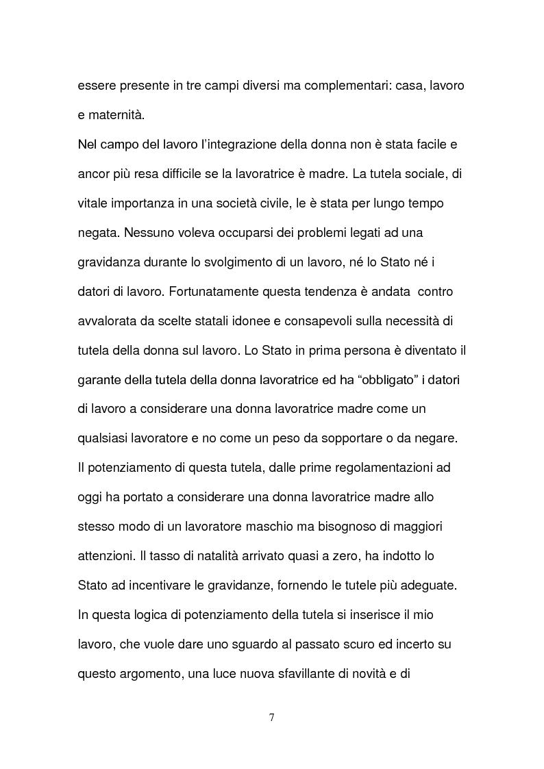 Anteprima della tesi: L'evoluzione della tutela della lavoratrice madre nel mondo del lavoro., Pagina 4